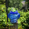 This glass frog has a Beautiful deck view from the Sherwin Art Glass studio  overlooking the Connecticut River in scenic Bellows Falls, Vermont.