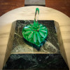 Emerald Green Optic Star Heart shape Ringholder.   Additional options upon request.