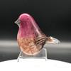 "Purple Finch | blown glass bird figurine | NH State bird | 3-4"" made by glass artisan Chris  Sherwin"