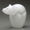 Glass Bear sculpture | smaller all glass version of the endangered Polar Bear