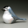 Glass Bird -- Chickadee, hand- sculpted glass made in Vermont