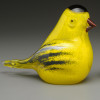 Goldfinch, glass bird sculpture, 3""