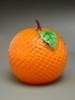 glass fruit sculpture, glass Orange paperweight, solid glass fruit sculpture, hand sculpted glass 3-4""
