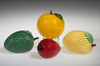 glass Lemon, glass fruit sculpture, Lemon Paperweight, 3""