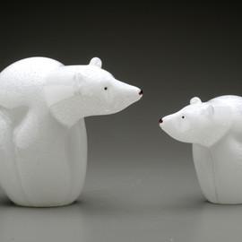 smaller all glass version of the endangered Polar Bear
