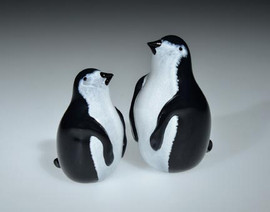 hand-sculpted glass Penguins, with torchwork eyes and beak