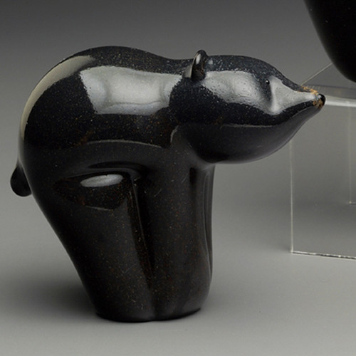 "Glass  Bear   Black Bear Cub animal sculpture, 3"""