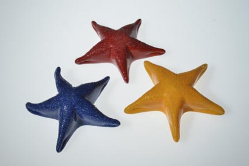 """Red, Blue, and """"traditional"""" orange Starfish color options!"""