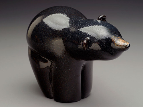 Black Bear, glass bear animal sculpture figurine, 4-5""