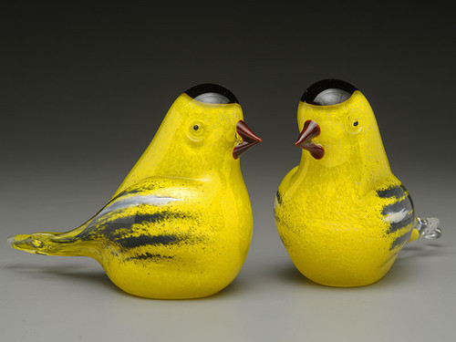 Goldfinch, Glass bird figurine, 3""