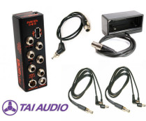 Remote Audio BDS System Package w/ BDSV4U, NP Cup, 2 Dual Std & 1 TA4F Power Cables for Sound Devices 833/888/Scorpio