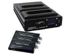Audioroot Dual-Bay Quick Charger Bundle w/ (3) Audioroot 96Wh Neo Lithium Smart Batteries