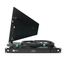 RF Venue 4-Channel Antenna Distributor with Black Diversity Fin Antenna and Cables Bundle