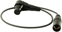 Ambient AK-XLR4-90 Power Distribution Adapter Cable XLR-4F(RA) to XLR-4M