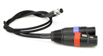 Remote Audio TA6F to Dual XLR-3F Cable for Lectro DCHT Transmitter