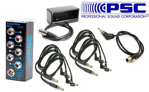 PSC BDS System Package W/ Powerstar Mini, Np Cup, 4 Dual Std & 1 TA4F Power Cables For Sound Devices 833/888/Scorpio