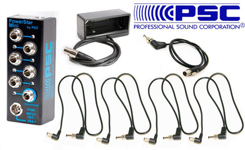 PSC BDS System Package W/ Powerstar Mini, Np Cup, 4 Std & 1 TA4F Power Cables for Sound Devices 833/888/Scorpio