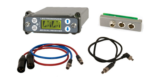 Lectrosonics SRC Wideband Dual Channel Slot Receiver with SREXT Adapter, BDS Power Cable & Audio Cables, 941 (941 - 960 MHZ)