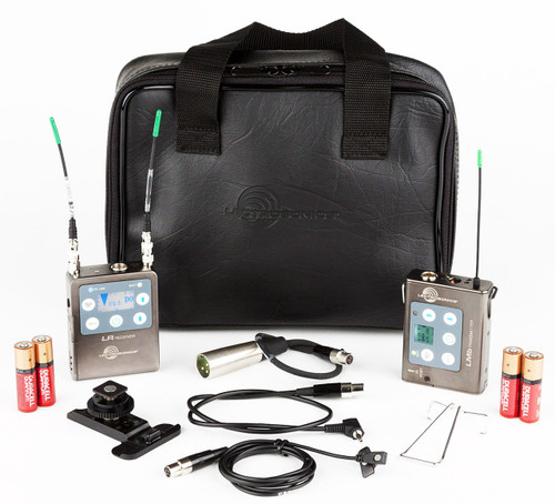Lectrosonics L Series LR Receiver/LMb Beltpack Transmitter and Mic with Accessory Kit A1 (470.100 - 537.575 MHz)