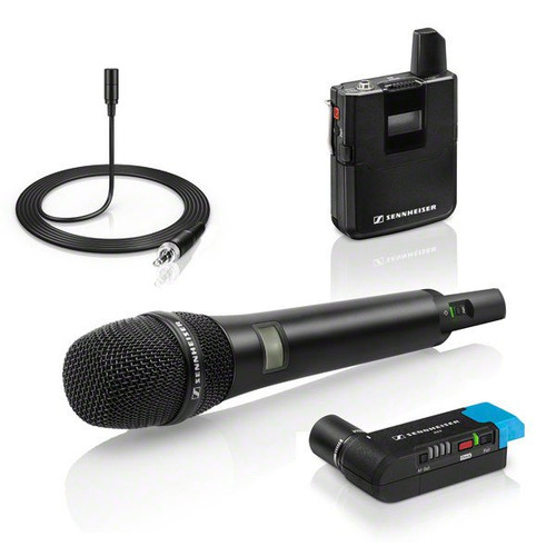 Sennheiser AVX-COMBO SET Wireless Mic System with Bodypack & Handheld Transmitters