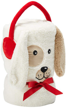 Department 56 Snowpinions Dog SnowThrow Blanket, 60 Inch, Multicolor