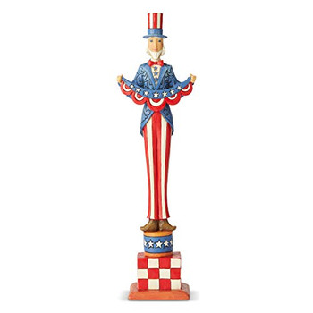 Enesco Jim Shore Heartwood Creek Bold Stripes Bright Stars Uncle Sam Figurine, 12.01 Inch, Multicolor