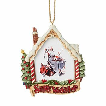 Enesco Saturday Evening Post by Jim Shore Santa in Workshop Ornament