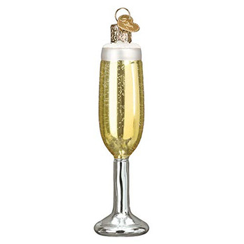 Old World Christmas Champagne Flute Blown Glass 2020 Unique Christmas Ornaments for Christmas Tree Decorations