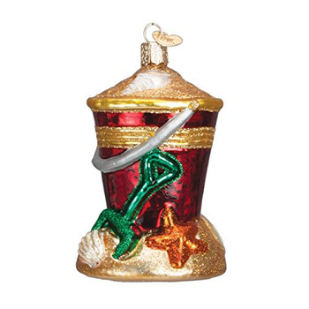 Old World Christmas Gifts Glass Blown Ornaments for Christmas Tree Beach Bucket