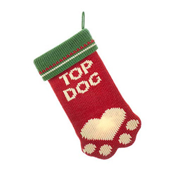 Kurt Adler Top Dog Knit Pet Stocking
