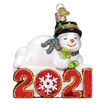 Old World Christmas Ornaments 2021 Snowman Glass Blown Ornaments for Christmas Tree