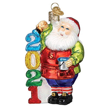 Old World Christmas Ornaments 2021 Santa Glass Blown Ornaments for Christmas Tree
