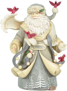 Enesco Heart Woodland Uplifting Christmas Figurine, 8.86 Inch, Multicolor