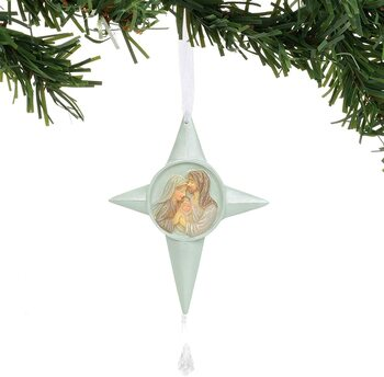 Enesco Foundations Nativity Scene Star Hanging Ornament, 5 Inch, Multicolor