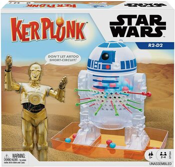 Mattel Games Kerplunk Star Wars Marble-Dropping Kids Game for 2 to 4 Players, Gift for Ages 5 Years Old & Up