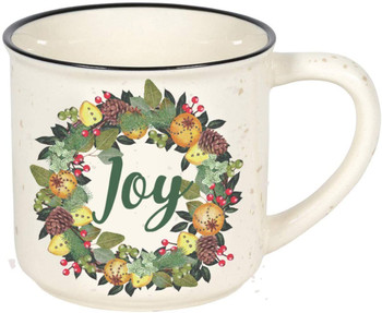 Enesco Our Name is Mud Country Living Joy Camper Coffee Mug, 16 Ounce, Multicolor