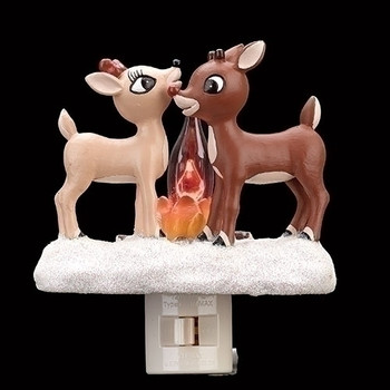 "5.25""H RUDOLPH CLARICE BY FIRE"