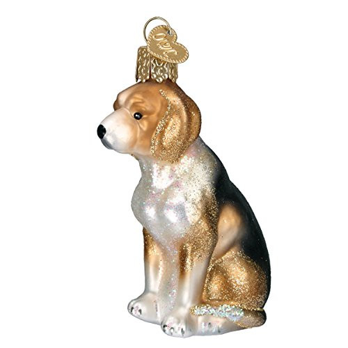 Old World Christmas Dog Collection Glass Blown Ornaments for Christmas Tree, Beagle