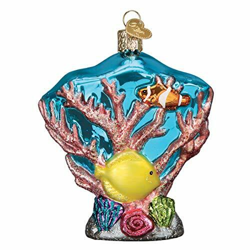 Old World Christmas Ornaments Coral Reef Glass Blown Ornaments for Christmas Tree