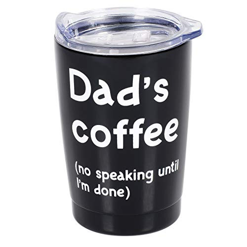 Enesco 6006268 Our Name is Mud PARENTheses Dad's Coffee Stainless Steel Tumbler