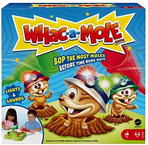 WHAC-A-MOLE Kids Arcade Game with Mallets & Lights & Sounds for 1 or 2 Players 4 Years Old & Up
