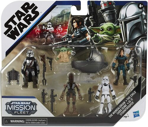 STAR WARS Mission Fleet Defend The Child 2.5-Inch-Scale Figure 5-Pack with Accessories, Toys for Kids Ages 4 and Up