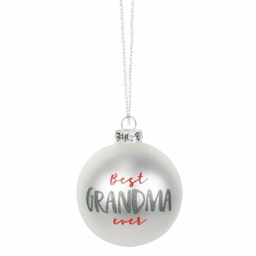 Enesco Our Name is Mud Grandma Glitter Hanging Ornament, 3.95 Inch, Multicolor