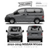 2009-2019 Nissan NV200 Vanette vector Template