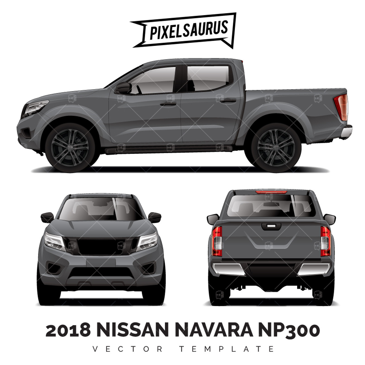 2015 nissan navara np300 frontier vector template