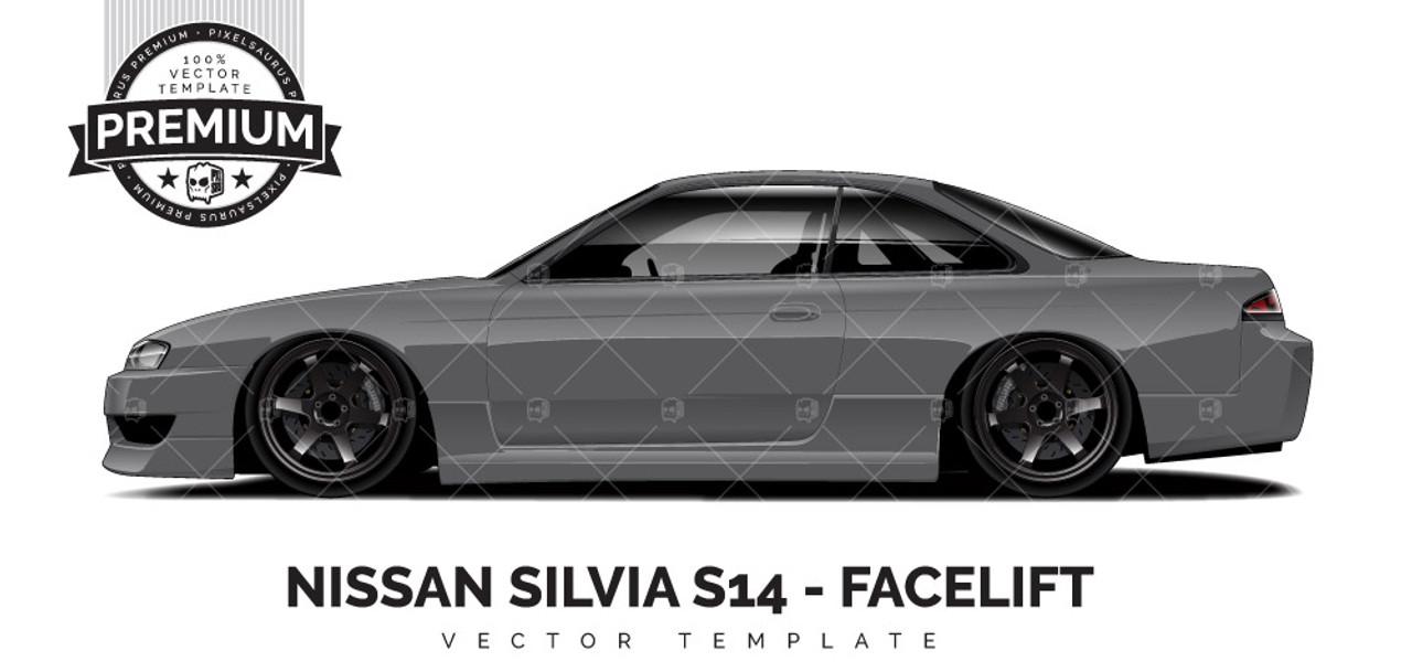 Nissan Silvia S14 Facelift Premium Pixelsaurus