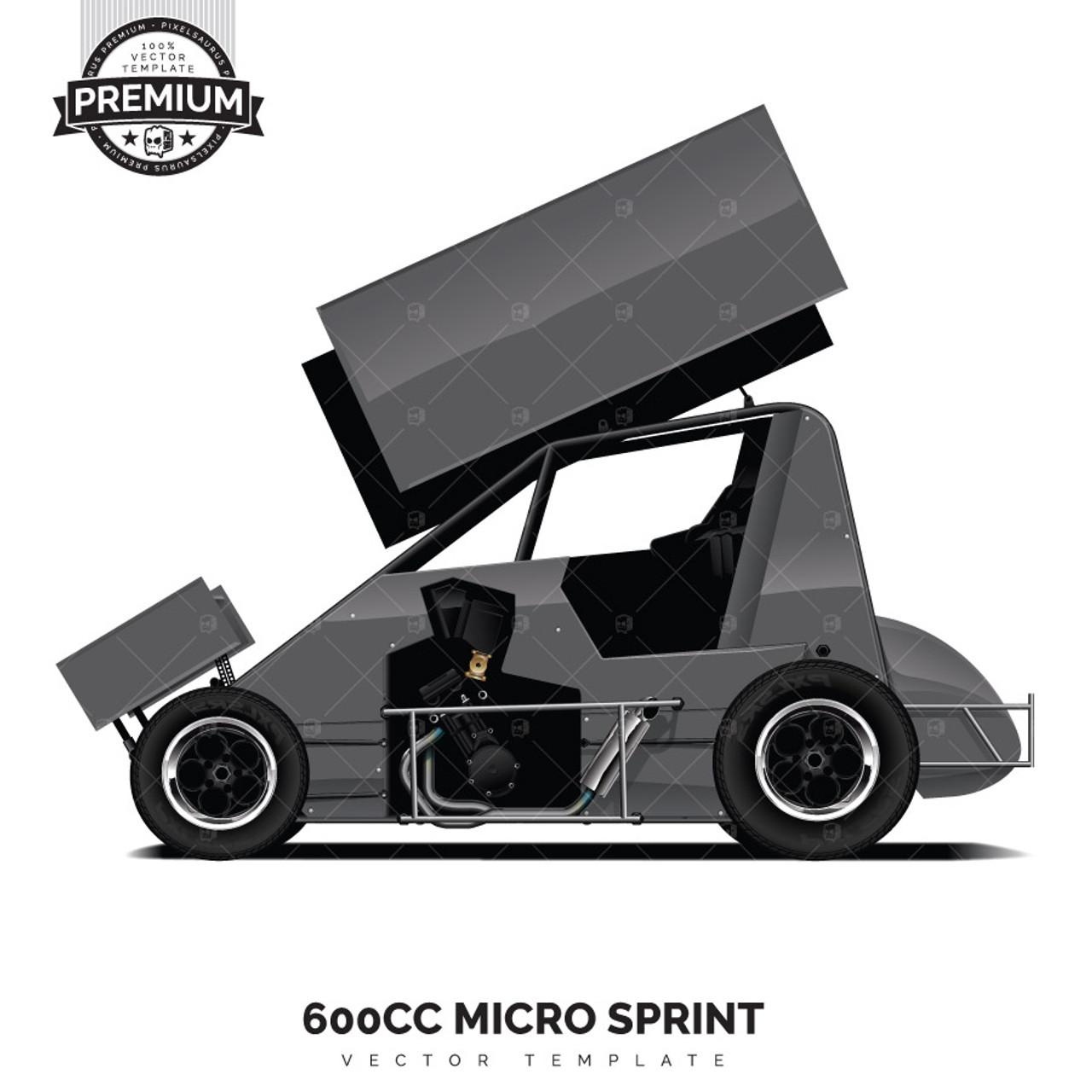 600cc Micro Sprint Premium Vector Template
