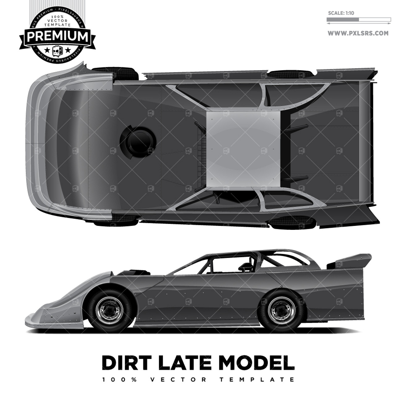 Dirt Late Model 'Premium' Vector Template
