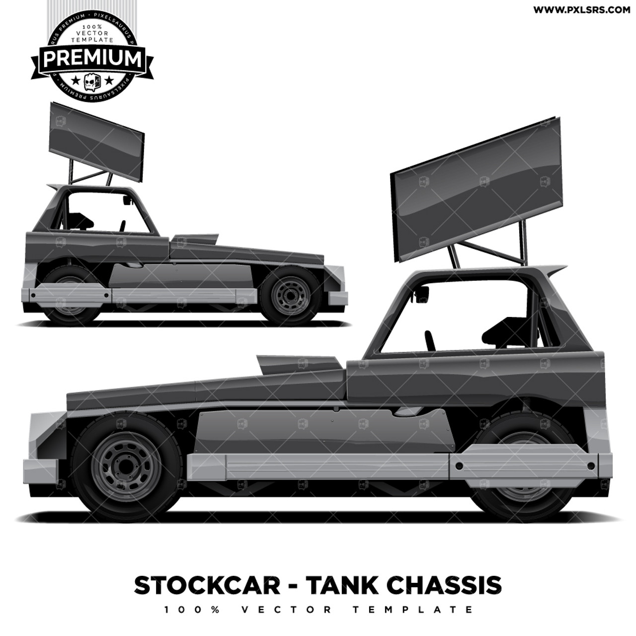 STOCKCAR / SUPERSTOCK - Tank Chassis 'Premium' Vector Template