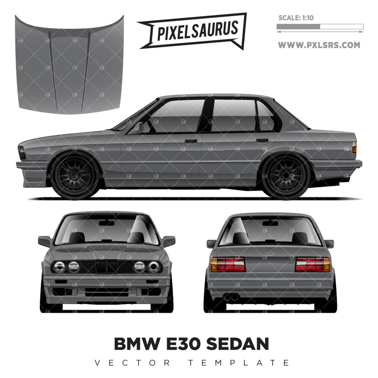 Bmw E36 M3 Coupe Vector Template